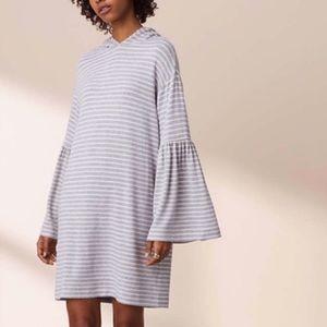 Lou & Grey Hooded Bell Sleeve Dress